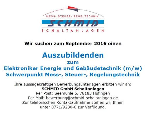 Ausbildung Elektroniker Energie Und Gebaudetechnik M W
